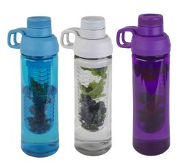 24 Units of Home Basics 24 Oz. Plastic Infuser Bottle With Twist Top - Drinking Water Bottle