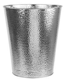 12 Units of Home Basics Hammered Stainless Steel 5 Liter Waste Bin, Silver - Waste Basket