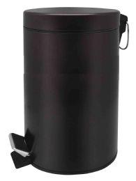 2 Units of Home Basics 20 Liter Round Waste Bin, Bronze - Waste Basket