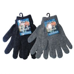 36 Units of Winter Knit Glove - Knitted Stretch Gloves