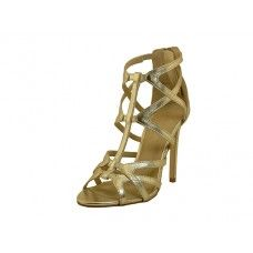 12 Units of Women's Cathy Jean High Heel Gladiator Sandal Gold Color Size 5-9.5 - Women's Heels & Wedges