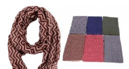 240 Units of Women's Geometric Print Light Weight Infinity Scarf - Womens Fashion Scarves
