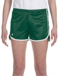 36 Units of Women's Russell Athletic Active Shorts In Dark Green And White,size Large - Womens Shorts