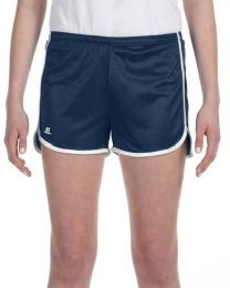 36 Units of Women's Russell Athletic Active Shorts In Navy And White,size 2xlarge - Womens Shorts