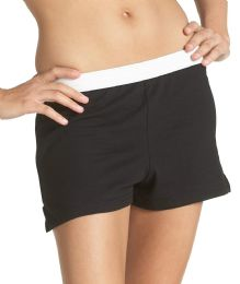 36 Units of Women's Russell Athletic Cheer Shorts In Black, Size X-Large - Womens Shorts