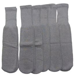 180 Units of Women Solid Grey Tube Sock Size 9-11 - Women's Tube Sock