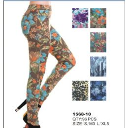 24 Units of Womens Fashion Leggings Assorted Colors Sizes Large, Ex Large - Womens Leggings