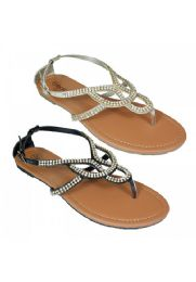 18 Units of Womens Fashion Sandals In Gold - Women's Flip Flops