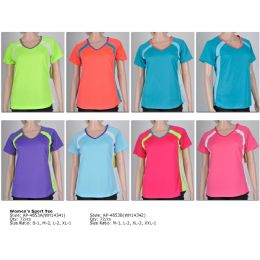72 Units of Women's Fashion Sports Tops in Assorted Colors - Womens Active Wear