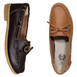 12 Units of Womens Leather Moc In Cognac - Women's Flats