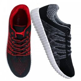 12 Units of Womens Sneakers in Black And Red - Women's Sneakers