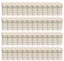 36 Units of Yacht & Smith Women's Premium Cotton Crew Socks White Size 9-11 - Womens Crew Sock