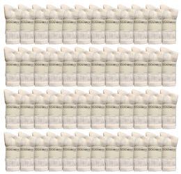 24 Units of Yacht & Smith Women's Premium Cotton Crew Socks White Size 9-11 - Womens Crew Sock