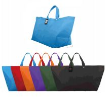 96 Units of Woven Shopping Bag Solid Colors - Tote Bags & Slings