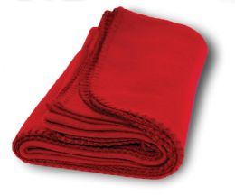 6 Units of Yacht & Smith 60x90 Fleece Blanket, Soft Warm Compact Travel Blanket, Red - Fleece & Sherpa Blankets