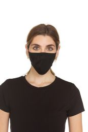 204 Units of Yacht & Smith Black 2 Ply Combed Cotton Washable Face Mask - PPE Mask