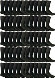 120 Units of Yacht & Smith Black Textured Cotton Dress Socks - Mens Dress Sock