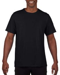 240 Units of Mens Cotton Crew Neck Short Sleeve T-Shirts Black, Mix Sizes - Mens T-Shirts