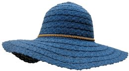 Yacht & Smith Cotton Crochet Sun Hat Soft Lace Design, Navy - Sun Hats