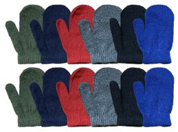 240 Units of Yacht & Smith Kids Warm Winter Colorful Magic Stretch Mittens Age 2-8 - Bulk Gloves for Homeless and Charity