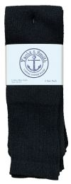 4320 Units of Men's Cotton 28 Inch Tube Socks, Referee Style, Size 10-13 Solid Black Bulk Buy - Men's Socks for Homeless and Charity