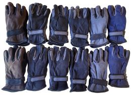 12 Units of Yacht & Smith Men's Fleece Gloves - Fleece Gloves