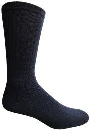 120 Units of Yacht & Smith Men's King Size Cotton Crew Socks Navy Size 13-16 - Big And Tall Mens Crew Socks
