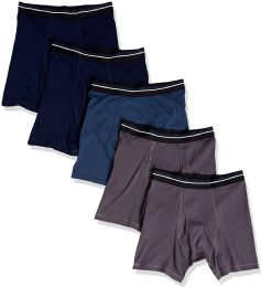 24 Units of Yacht & Smith Mens 100% Cotton Boxer Brief Assorted Colors Size Large - Mens Underwear