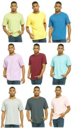 27 Units of Yacht & Smith Mens Assorted Color Slub T Shirt With Pocket - Size L - Mens T-Shirts