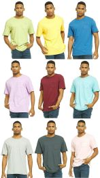 9 Units of Yacht & Smith Mens Assorted Color Slub T Shirt With Pocket - Size L - Mens T-Shirts