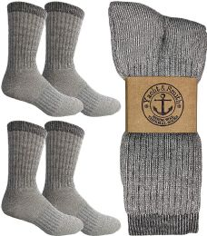 4 Units of Yacht & Smith Merino Wool Socks for Hiking, Trail, Hunting, Winter, by SOCKS'NBULK (4 Pairs Gray B, Mens 10-13) - Mens Thermal Sock