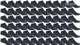240 Units of Yacht & Smith Mens Thin Comfortable Lightweight Breathable No Show Sports Ankle Socks, Solid Navy BULK BUY - Men's Socks for Homeless and Charity