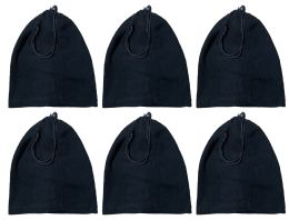 240 Units of Yacht & Smith Unisex Multi Functional Fleece Beanie Face Cover And Scarf , Solid Black - Winter Gear