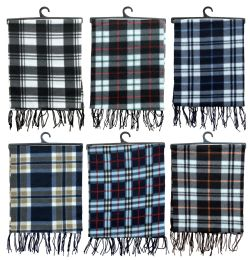 120 Units of Yacht & Smith Unisex Warm Winter Plaid Fleece Scarfs Assorted Colors Size 60x12 - Winter Scarves