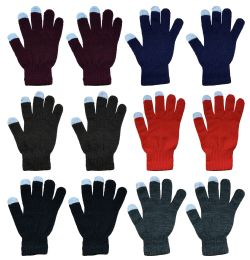 36 Units of Yacht & Smith Unisex Winter Texting Gloves, Warm Thermal Winter Gloves Assorted Colors - Conductive Texting Gloves