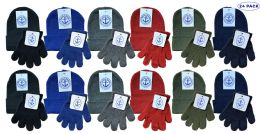24 Units of Yacht & Smith Wholesale Kids Beanie And Glove Sets (beanie Glove Set, 24) - Winter Sets Scarves , Hats & Gloves