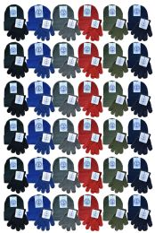 144 Units of Yacht & Smith Wholesale Kids Beanie and Glove Sets Ages 2-8 - Winter Care Sets
