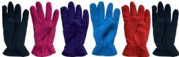 144 Units of Yacht & Smith Women's Double Layer Heavy Fleece Gloves BULK BUY - Bulk Gloves for Homeless and Charity