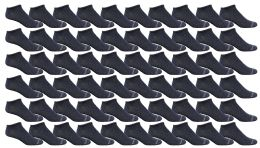 120 Units of Yacht & Smith Women's Poly Blend Light Weight No Show Loafer Ankle Socks Solid Navy - Women's Socks for Homeless and Charity