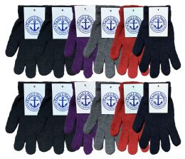 72 Units of Yacht & Smith Women's Warm And Stretchy Winter Magic Gloves Bulk Pack - Knitted Stretch Gloves