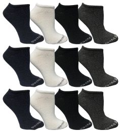 480 Units of Yacht & Smith Womens 97% Cotton Low Cut No Show Loafer Socks Size 9-11 Solid Assorted Bulk Buy - Womens Ankle Sock