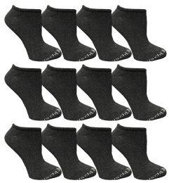 480 Units of Yacht & Smith Womens Cotton Low Cut No Show Loafer Socks Size 9-11 Solid Gray BULK BUY - Womens Ankle Sock