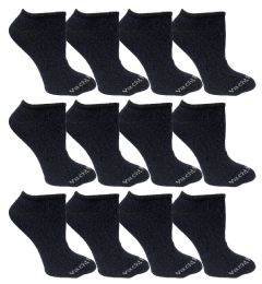 480 Units of Yacht & Smith Womens Cotton Low Cut No Show Loafer Socks Size 9-11 Solid Navy BULK BUY - Womens Ankle Sock