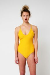 Yacht & Smith Womens Fashion Color Reversible One Piece Bathing Suit Size Large - Womens Swimwear