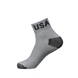 120 Units of Youth Low Cut Sport Ankle Socks USA Logo Size 9-11 - Boys Ankle Sock