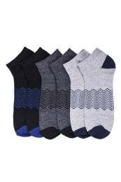 216 Units of Boys Spandex Ankle Socks Size 6-8 - Boys Ankle Sock