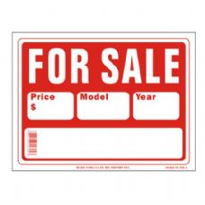 120 Units of Sign 9in x 12in Car For Sale - Signs