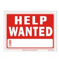 96 Units of Sign 9in x 12in Help Wanted - Signs
