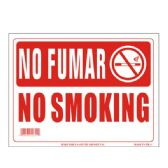 96 Units of Sign 9in x 12in No Fumar (No Smoking Spanish) - Signs