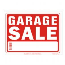 96 Units of Sign 9in x 12in Garage Sale - Signs